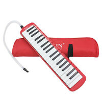 37 Piano Keys Melodica Musical Instrument forBeginners w/ Carrying Bag Red