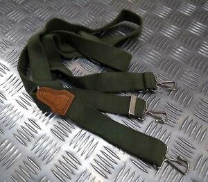 Genuine Vintage KL Dutch NATO Issue Braces Suspenders Green Loop Hooks