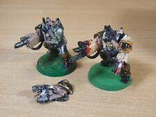 2 CLASSIC METAL WARHAMMER CHAOS SPACE MARINE OBLITERATORS SOLD AS SEEN (1543)