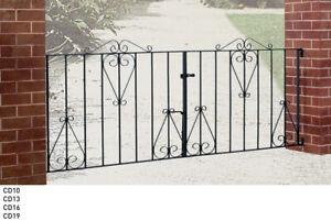 Wrought iron driveway gates Galvanised & Powder Coated Classic Design