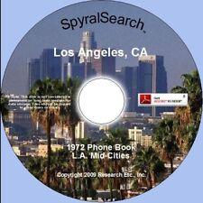 CA - Los Angeles Mid-Cities 1972 Phone Book CD