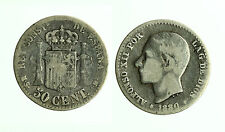 pcc1785_14) SPAIN  Alfonso XII. 1874-1885. 50 Centimos 1880