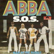 CD SINGLE ABBA SOS 2-Track CARD SLEEVE  man in the middle -