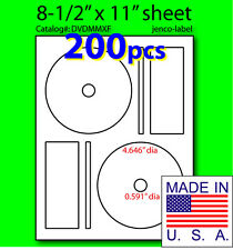 DVDMMXF, 200 CD/DVD Labels Memorex Compatible Full Face