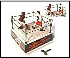 Boxing Ring, Classic Tin Wind Up 1900 remake NEW  RETRO