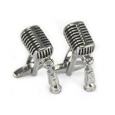 Fine Detailed Vintage Microphone Cufflinks 1950s elvis the king rca motown AJ056