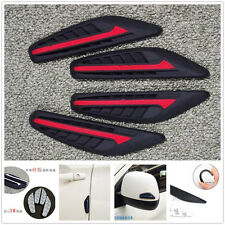 Car Rearview Mirror Side Bumper Red And Black Silicone Anti-Rub Door Edge Strips