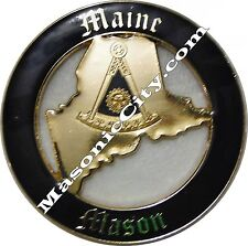 Z-36 Maine Master Mason Masonic Auto Emblem FreeMasonry Car Lodge Past