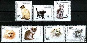 Albania 1966  Sc965-71  Mi1091-97  mnh  Cats