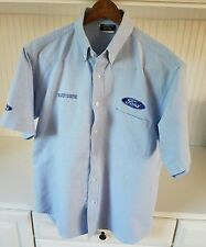 RARE Official COSWORTH FORD Racing Indy Champ British Jaguar Button Summer shirt