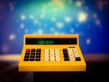 Old School Vintage Yellow 70's Desktop Calculator Model MK-41 **RARE**