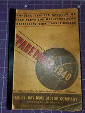 1940 Harley-Davidson motorcycle spare parts catalog
