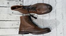NEW Frye Tyler Brown Lace Up Combat Boots Women's Size 8.5