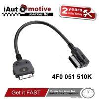 Audi + VW iPod iPhone AMI MMI Audio Cable Adaptor Interface Lead Connector sline