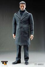 1/6 TTL Toys Man wearing Long Light Grey Coat Action Figure NIB
