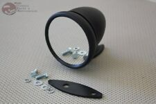 Bullet Style Black Fender Door Sports Mirror Japanese British Compact Custom
