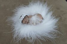 "2.5"" MINIATURE POLYMER CLAY OOAK ETHNIC INFANT ANGEL DOLL ~ W/FLUFF, PHOTO PROP"
