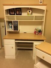 White Dresser, Desk (with Hood), Nightstand (Matching Set!) - Gently Used!