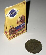 Dollhouse Miniature Pedigree Adult Dog Food Bag 1:12 Pet Animal