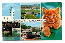 Yorkshire - Scarborough, Multiview - Postcard Franked 1976