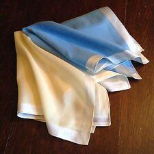Pocket Square  Handkerchief British Brand Daks New 2 Colours Light Blue  Yellow