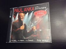 "PAUL ANKA - ""Live and Swinging"" - 2 disc Set - only sold at US shows - SIGNED CD"