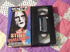 WCW/nWo - Sting: Unmasked! (VHS, 1998) The Wolfpac - WRESTLING - (FREE SHIP.)