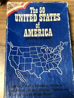 Vintage 1989 The 50 United States of America Quiz Cards Thomas Publications