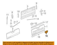 Chevrolet GM OEM 03-06 Avalanche 1500 Tail Gate Tailgate Hatch-Bezel 93440179