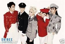 "SHINEE ""EVERYBODY-GROUP IN MODERN MILITARY UNIFORMS"" POSTER - Korean K-Pop Music"