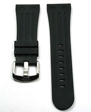 TW STEEL TWB96, BLACK RUBBER STRAP, FOR GOLIATH 37MM CASES. 26MM WIDTH