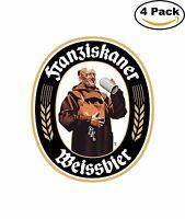 Franziskaner Weissbier German Beer Alcohol  Decal Diecut Sticker 4 Stickers