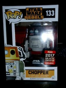 Funko Pop Star Wars rebels Chopper #133  2017 Galactic Exclusive