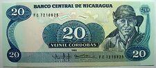 - Très beau billet - NICARAGUA - 20 Cordobas - 1985 - Neuf -