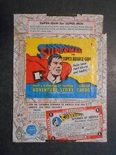 1940 SUPERMAN CARD WRAPPER GUM INC.