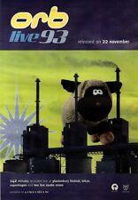 "20/11/93PGN58 THE ORB : LIVE 93 ALBUM ADVERT 15X11"""