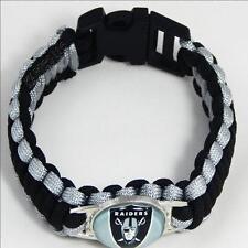 NFL Football Paracord Bracelet! - OAKLAND RAIDERS