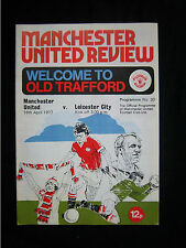 Orig.PRG   England 1.Division  1976/77  MANCHESTER UNITED FC - LEICESTER CITY FC