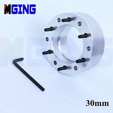 30MM  SILVER  STEERING WHEEL PAD SPACER HUB ADAPTER GASKET 6BOLTS ALLEN KEY