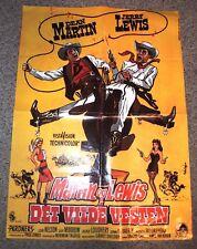 Vintage MOVIE POSTER 1950's-Dean Martin Jerry Lewis-PARDNERS-Danish 24x33