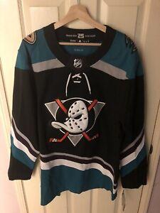 Adidas Anaheim Ducks Jersey Size 52 MSRP $180
