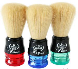 Omega Shave Brush 100% Synthetic Fiber  (SHIPS VARIOUS COLORS ) #SB-839