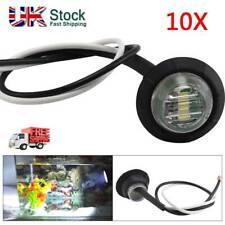 10x 24v Round LED Front Rear Side Marker Indicators Light Waterproof Bullet Lamp