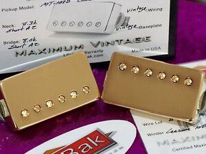 ThroBak Maximum Vintage MT-102B P.A.F. Humbucker Guitar Pickup set - Gold