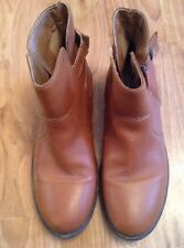 Girls Brown 100% Leather Ankle Boots From Next Vgc Size 3