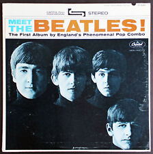 John Lennon Authentic Signed Meet The Beatles Album Cover Caiazzo & BAS #A57923