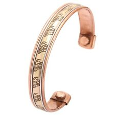 Magnetic Copper Bracelet Healing Bio Therapy Tibetan Pain Relief Cuff Brcelets
