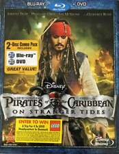 Pirates of the Caribbean: On Stranger Tides Blu-Ray + DVD - 2-Disc - NEW, SEALED