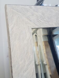 HANDCRAFTED MIRROR STUNNING WHITE MARBLE FRAME