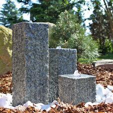 CLGarden Granit Springbrunnen SB2 3 Säulen Gartenbrunnen Steinbrunnen Stein LED